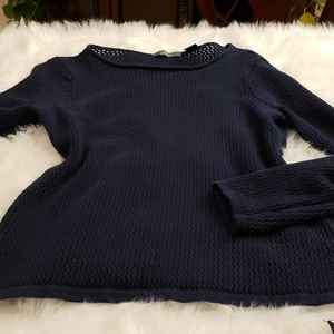 Liz Claiborne XL navy blue top